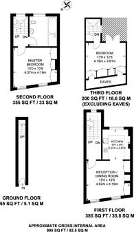 Large floorplan for Walton Street, Chelsea, SW3