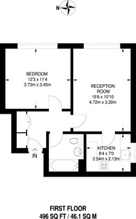Large floorplan for Leigham Court Road, Streatham, SW16