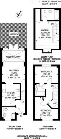 Large floorplan for Hepdon Mews, Tooting, SW17