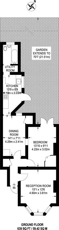 Large floorplan for Vaughan Road, Harrow, HA1
