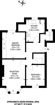 Large floorplan for Woodford New Road, Walthamstow, E17