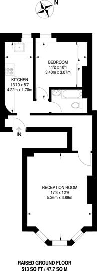 Large floorplan for Peckham Rye, East Dulwich, SE22