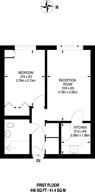 Large floorplan for Summers Road, Farncombe, GU7