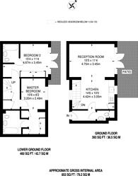 Large floorplan for Earlsfield Road, Earlsfield, SW18