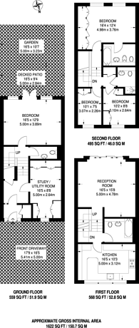 Large floorplan for Meadowbank, Primrose Hill, NW3