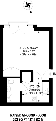 Large floorplan for Holford Way, Roehampton, SW15