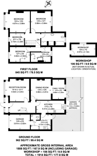 Large floorplan for Rosecourt Road, Mitcham, CR0
