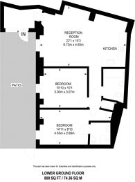 Large floorplan for Bedford Row, Holborn, WC1R