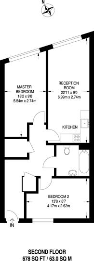 Large floorplan for Ramsgate Street, Dalston, E8