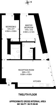 Large floorplan for Park Drive, Canary Wharf, E14