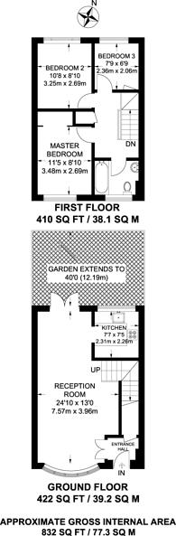 Large floorplan for Mount Hermon Road, Mount Hermon, GU22