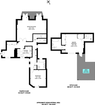 Large floorplan for North Audley Street, Mayfair, W1K