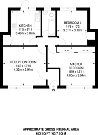 Large floorplan for Coniston Close, Grove Park, W4