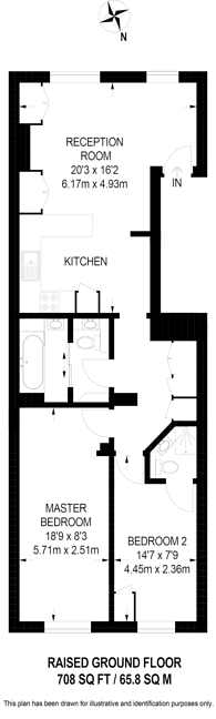 Large floorplan for Brompton Square, Knightsbridge, SW3