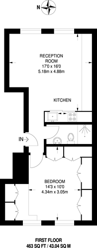 Large floorplan for Portobello Road, Notting Hill, W11