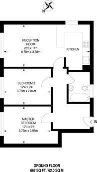 Large floorplan for Scriven Street, Hackney, E8