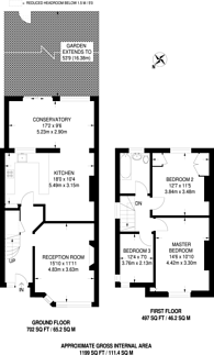 Large floorplan for Brunswick Avenue, Brunswick Park, N11