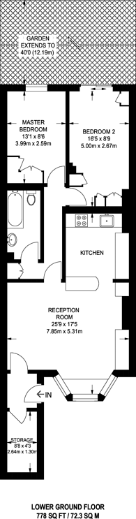 Large floorplan for Askew Road, Shepherd's Bush, W12