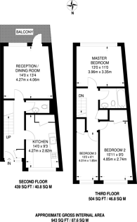 Large floorplan for Condell Road, Battersea, SW8