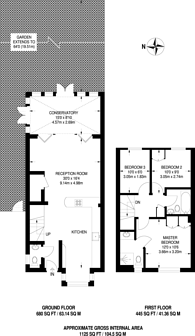 Large floorplan for Southlands Drive, Wimbledon, SW19