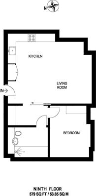 Large floorplan for Vantage Point, Archway, N19