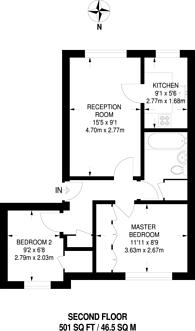 Large floorplan for Mayfield Road, Shepherd's Bush, W12