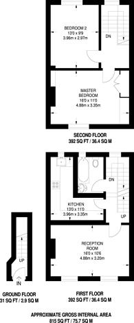 Large floorplan for York Road, Acton, W3