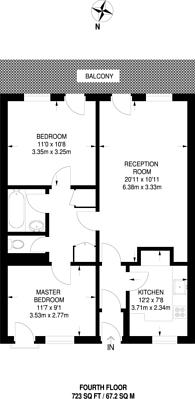 Large floorplan for Bradstock Road, Homerton, E9