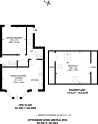 Large floorplan for Jerningham Road, Telegraph Hill, SE14