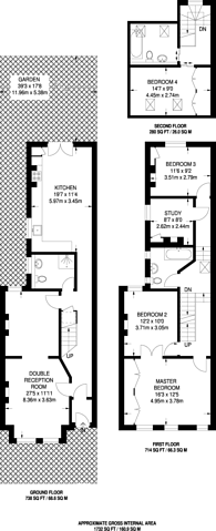 Large floorplan for Forest Hill Road, Honor Oak Park, SE23