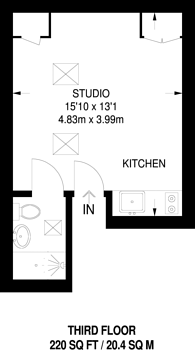 Large floorplan for Harrow Road, Maida Vale, W10