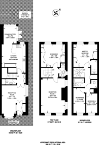 Large floorplan for Westmoreland Place, Ealing, W5