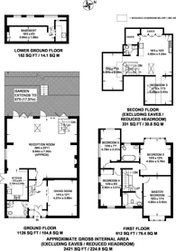 Large floorplan for Deansway, East Finchley, N2