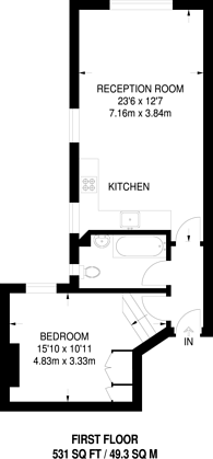 Large floorplan for Wandsworth Bridge Road, Fulham, SW6