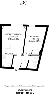 Large floorplan for Parliament View Apartments, Westminster, SE1