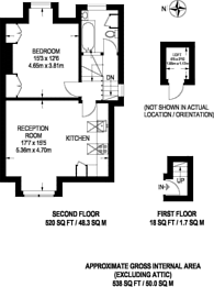 Large floorplan for Park Avenue, Bounds Green, N22