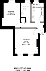 Large floorplan for Pleasant Place, Islington, N1