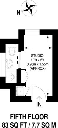 Large floorplan for Brompton Road, Knightsbridge, SW3