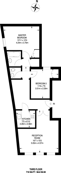 Large floorplan for Kensington Garden Square, Westbourne Grove, W2