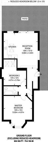 Large floorplan for Martell Road, West Dulwich, SE21