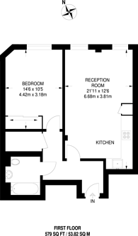 Large floorplan for St Johns Road, Harrow, HA1