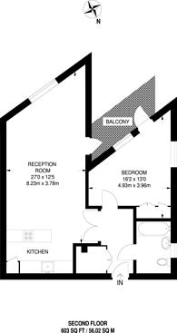 Large floorplan for Leeke Street, King's Cross, WC1X