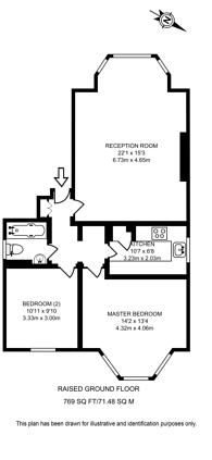 Large floorplan for Crystal Palace Park Road, Crystal Palace, SE26