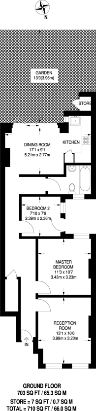 Large floorplan for Chapter Road, Dollis Hill, NW2