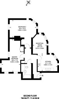 Large floorplan for Kew Bridge Court, Chiswick, W4