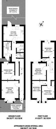 Large floorplan for Geere Road, Stratford, E15