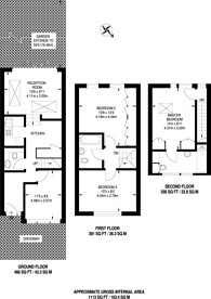 Large floorplan for Ramsden Road, Nightingale Triangle, SW12