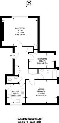 Large floorplan for Stockleigh Hall, Regent's Park, NW8