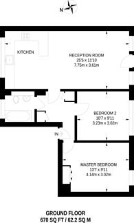 Large floorplan for Coleraine Road, Blackheath, SE3
