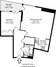 Large floorplan for New Providence Wharf, Isle Of Dogs, E14
